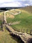 Stretch of Hadrian's Wall near Cawfield Crags
