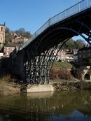 The world's first iron bridge, of 1779, at Coalbrookdale