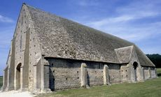 Medieval tithe barn at Great Coxwell, Oxfordshire