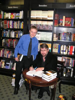 Roy Adkins signing books at Hatchards, Piccadilly.