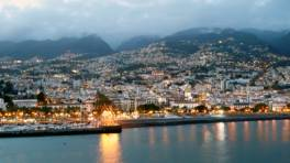 Funchal, Madeira, at dusk.