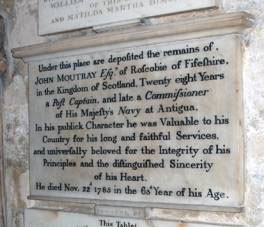 The memorial to John Moutray