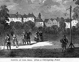 Playing pall mall, from an old print