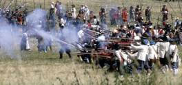 Re-enactment of the Battle of Langport in 1995