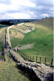 A section of Hadrian's Wall and a milecastle