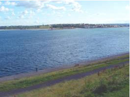 View across the Tyne to South Shields from the Collingwood Monument