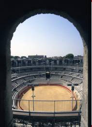 The arena of the Roman amphitheatre at Arles, in southern France