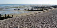 Timber groynes at Middleton in West Sussex