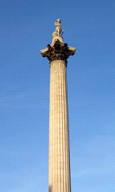 Nelson's Column photographed on one of London's rare 'halcyon days'