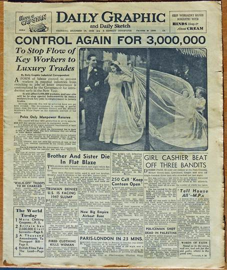 Front page of the Daily Graphic, 19th December 1946