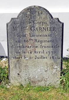 The gravestone of Pierre Garnier