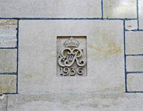 Monogram of King Edward VIII at Bradford-on-Avon