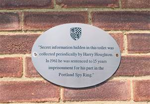 The plaque on the public toilets in Station Road