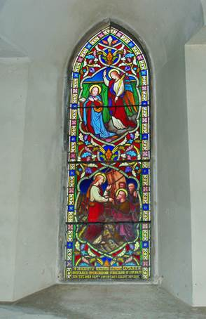 Memorial window of Benjamin Clement in Chawton church, Hampshire
