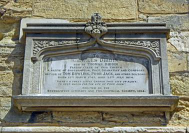 The memorial to Charles Dibdin