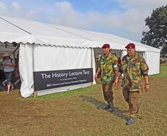 The History Lecture Tent at 'History Live!'