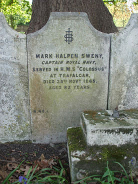 Gravestone of Captain Sweny