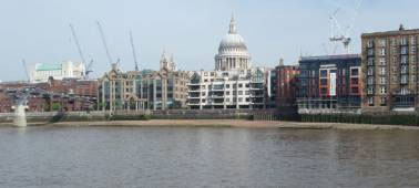 The north bank of the Thames, with St Paul's in the centre