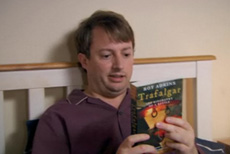 In bed with David Mitchell on the Peep Show (series 7 episode 5)