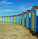 Beach huts at Littlehampton, Sussex