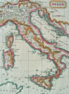 1822 map of Italy