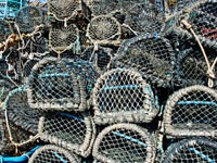 Lobster pots at Brixham in Devon