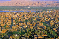 Aerial view of Luxor