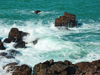Rough seas near St Ives, Cornwall