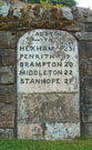 Milestone at Alston in Cumbria