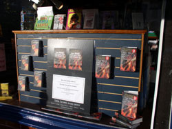 Window display at Warwick Books