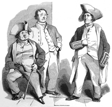 Greenwich Pensioners Joseph Burgin, James Connell and George French in 1844. They were all Trafalgar veterans.