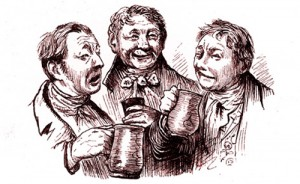 Drinkers with Tankards 1