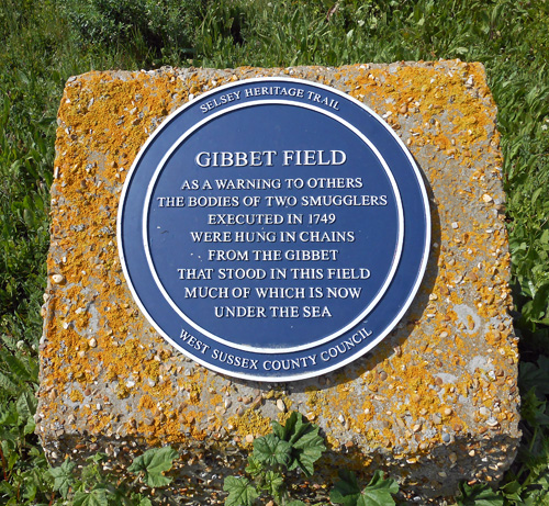 Selsey gibbet plaque