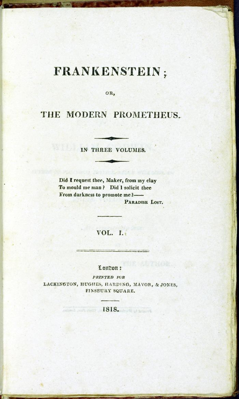 Frankenstein title page